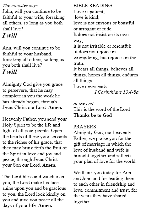 St Mary And St Nicolas Renewal Of Wedding Vows
